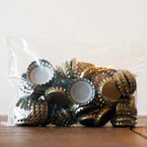 Метални капачки за бира, тип Корона, цвят злато
