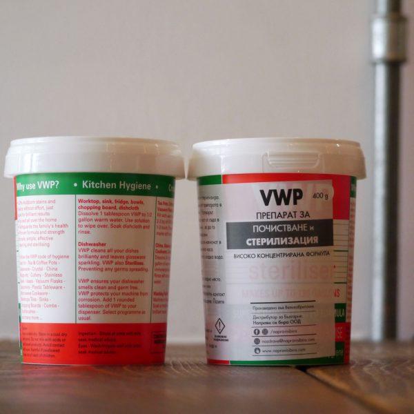 Препарат за почистване и стерилизация тип VWP