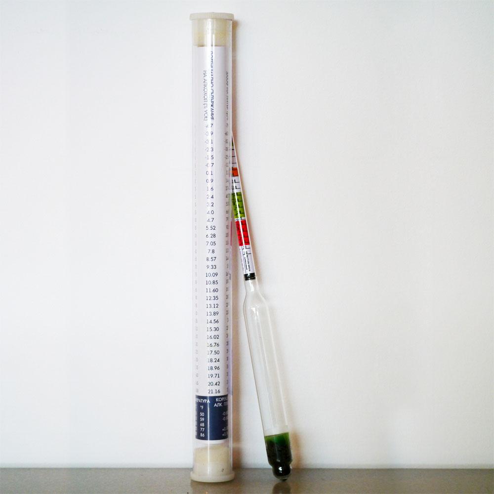 Хидрометър за замерване плътността и алкохолното съдържание на бирата от Направи си бира ООД
