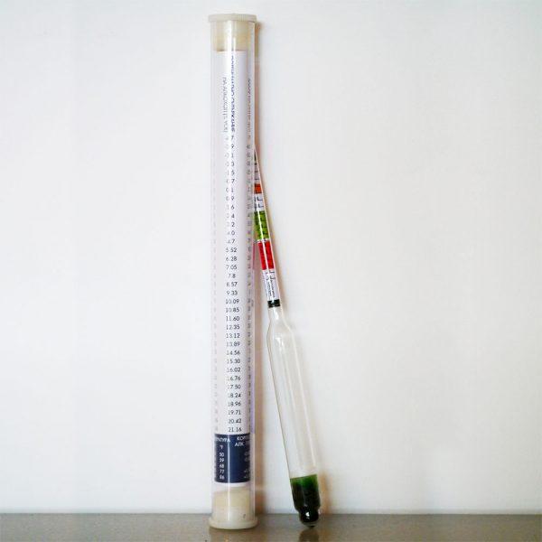 Хидрометър за замерване на плътността на бирата