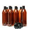 Кафеви ПЕТ бутилки за бира, 500 мл с черни капачки - домашно пивоварство, Направи си бира