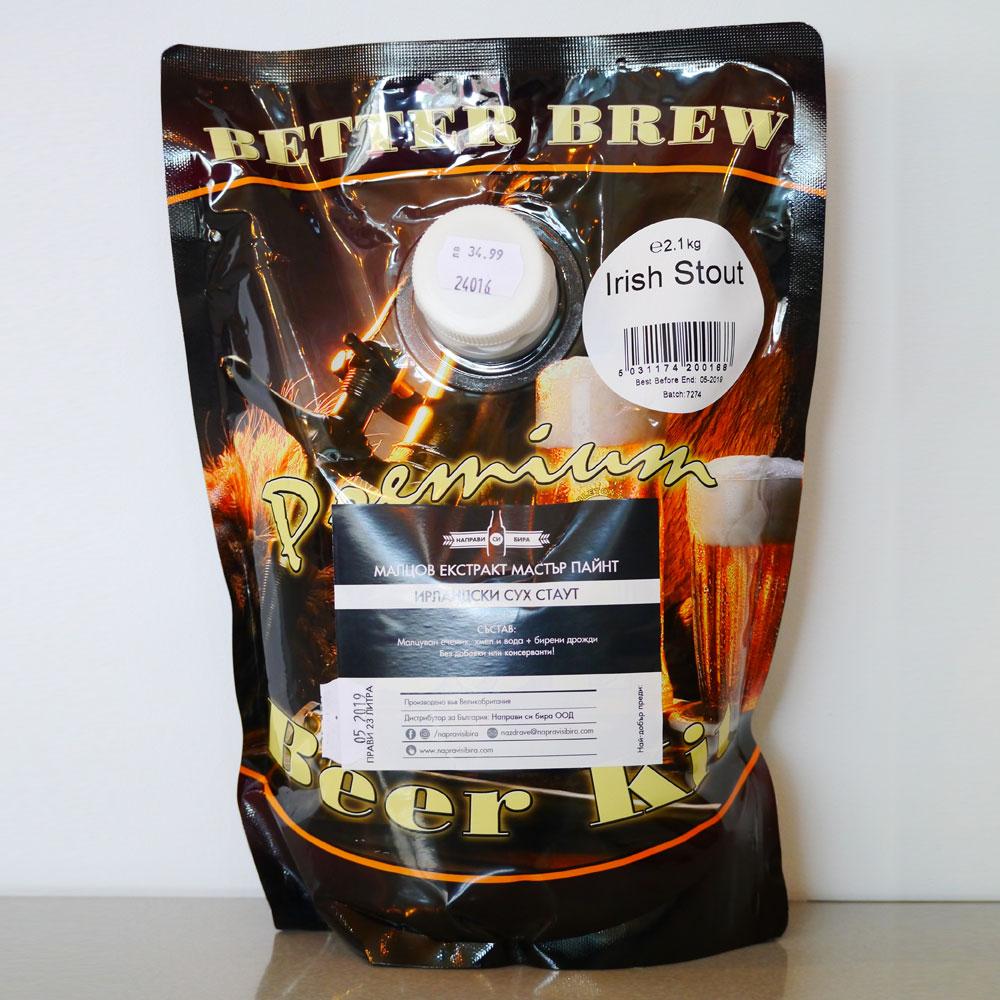 Бетър Брю Ирландски Стаут, охмелен малцов екстракт – малцови екстракти от Направи си бира