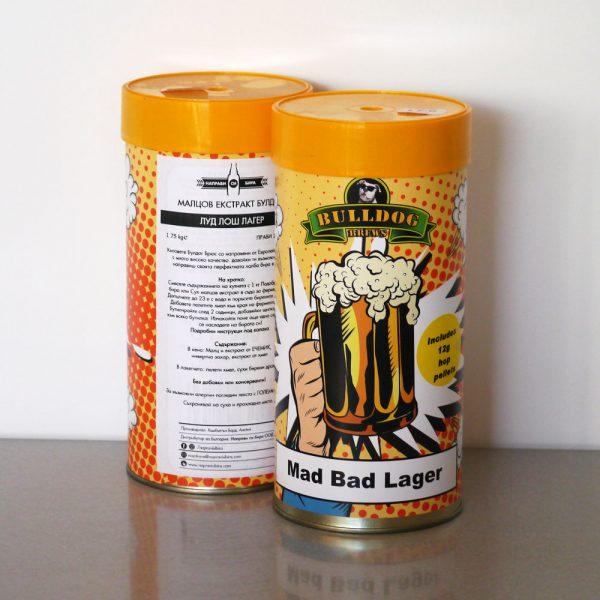 Булдог Луд Лош Лагер, охмелен малцов екстракт - малцови екстракти от Направи си бира