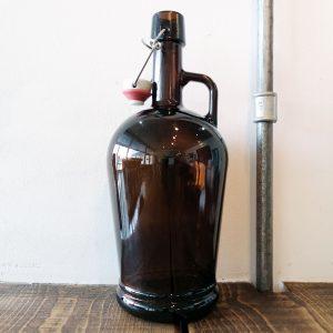 Стъклен граулер 2л за суинг-топ, тип гролш - домашен пивовар, Направи си бира ООД, дамаджана или кана за наливна бира