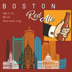 Boston Red Ale - кит и рецепта за домашна крафт бира, създадена от Робърт Хенри - майстор пивовар в Направи си бира ООД