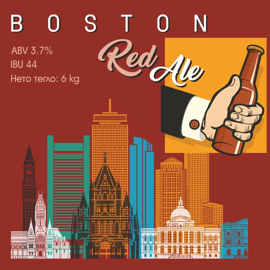 Boston Red Ale – кит и рецепта за домашна крафт бира, създадена от Робърт Хенри – майстор пивовар в Направи си бира ООД