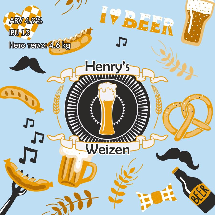 Henry's Weizen – кит и рецепта за домашна крафт бира, създадена от Робърт Хенри – майстор пивовар в Направи си бира ООД