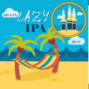 Lazy IPA - кит и рецепта за домашна крафт бира, създадена от Робърт Хенри - майстор пивовар в Направи си бира ООД