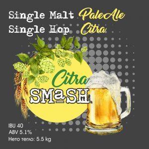 Citra SMaSH - кит и рецепта за домашна крафт бира, създадена от Робърт Хенри - майстор пивовар в Направи си бира ООД