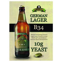 Bulldog B34 Дрожди за немски лагер, дрожди с долна ферментация - магазин за домашния пивовар, Направи си бира ООД