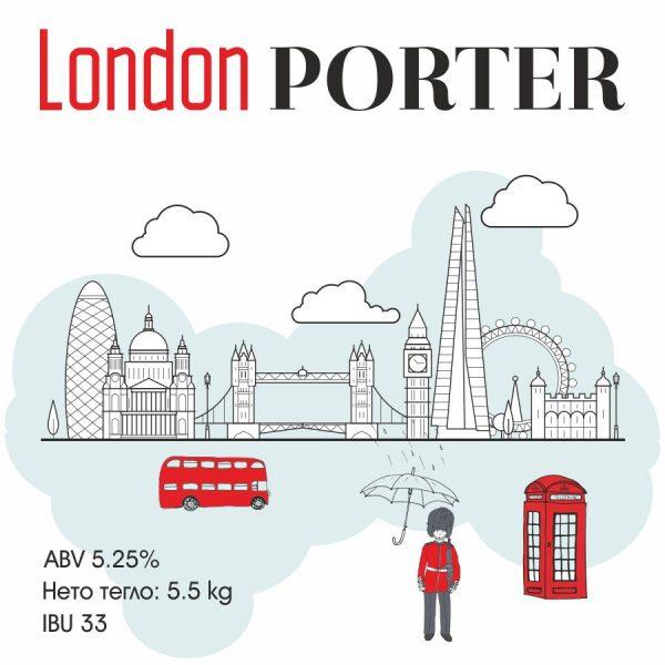 London Porter - кит за варене на крафт бира - класически тъмен портър с продължителен послевкус и усешане за шоколад и кафе