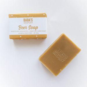Бирен сапун Baba's Soapery 100 гр за чувствителна кожа, идея за подарък за жена или мъж - магазин за домашния пивовар, Направи си бира ООД