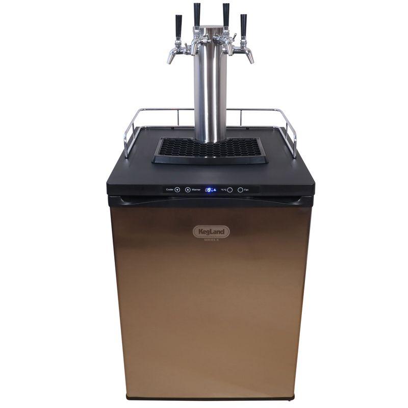 KegLand Keg Master Кегератор / охладител за бира Серия Х с 4 глави с контрол на потока – магазин за оборудване на крафт бира, Направи си бира ООД