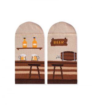 Къси чорапи с принт пъб - идея за подарък, Направи си бира ООД