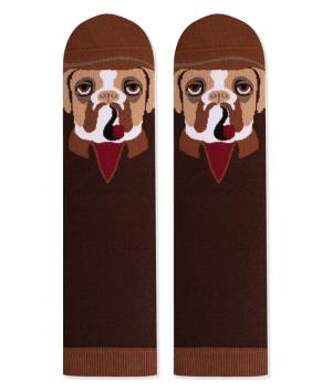 Памучни чорапи с кучета Boxer, меки дамски и мъжки чорапи - идея за подарък, Направи си бира ООД