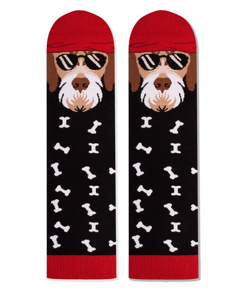 Памучни чорапи с кучета Fox Terrier, меки дамски и мъжки чорапи – идея за подарък, Направи си бира ООД