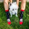 Памучни чорапи с кучета Fox Terrier - подари меки дамски или мъжки чорапи, произведени в България
