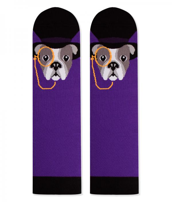 Памучни чорапи с кучета French Bulldog, меки дамски и мъжки чорапи - идея за подарък, Направи си бира ООД
