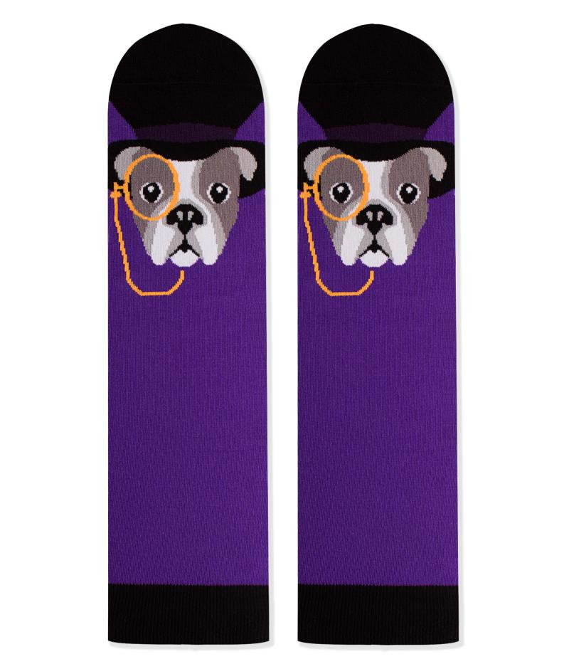 Памучни чорапи с кучета French Bulldog, меки дамски и мъжки чорапи – идея за подарък, Направи си бира ООД