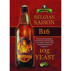 Bulldog B16 дрожди за белгийски сейсон, фермерски стил дрожди за сейсон пиво с трапчиви и парливи нотки и богати аромати на подправки - магазин за домашния пивовар, Направи си бира