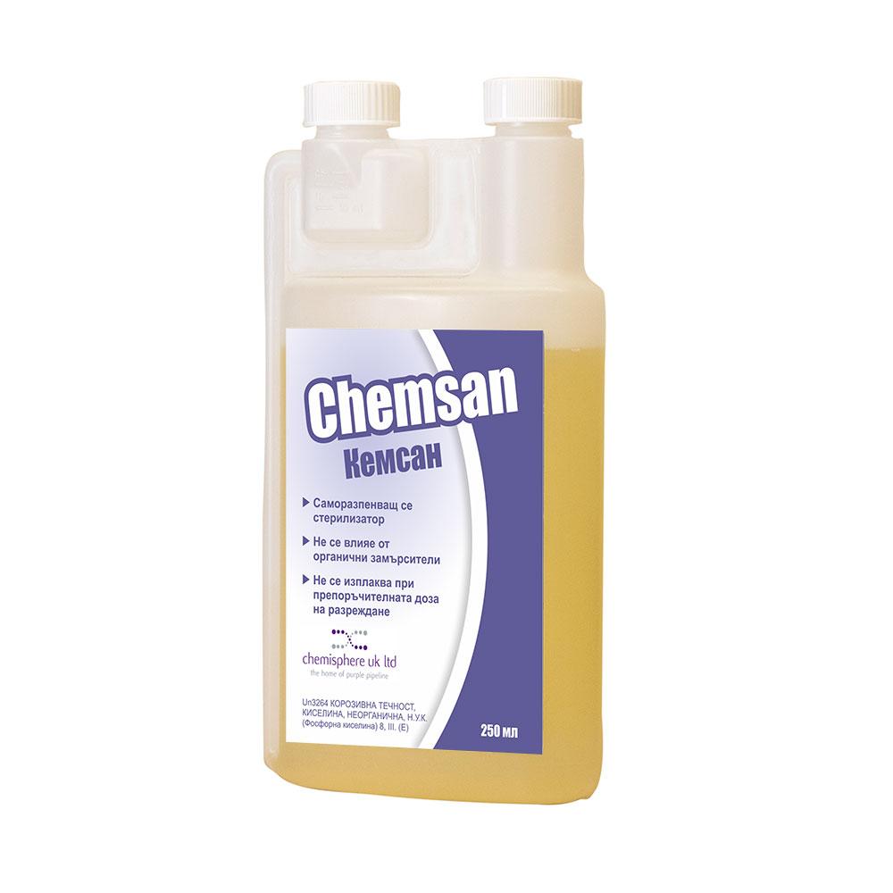 Chemsan, Кемсан 250мл препарат за почистване на пивоварно оборудване без изплакване – магазин за домашния пивовар, Направи си бира